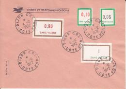 TIMBRES FICTIFS Sur  Enveloppe De Cours D´instruction :dijon CRI - Instructional Courses