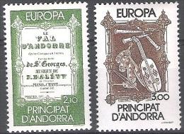 Andorre Français 1985 Yvert 339 - 340 Neuf ** Cote (2015) 20.00 Euro Europa CEPT Musique - Unused Stamps