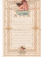 LETTERINA DI NATALE   CON APPLICAZIONE CROMOLITO ANGIOLETTO IN ALTO E IN BASSO DUE SCANNER -2-0882-21103-102 - Noël