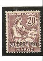 TIMBRES DE FRANCE Avec Valeur En Espagnole  N° 13 * , Traces De Charnières - Unused Stamps