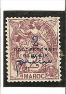 PROTECTORAT FRANCAIS Types De 1902-03 Avec Surcharge  N° 38* Charnière - Unused Stamps