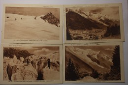 Lot De 18 CPA Chamonix Mont Blanc Glacier Bossons Chemin De Fer Mer De Glace Les Praz  - RE04 - Cartes Postales