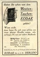 Original-Werbung/Inserat/ Anzeige 1914 - KODAK - Ca. 70 X 90 Mm - Publicités
