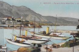 Monaco - Vue Sur Le Port Et Monte-Carlo - Bateaux à Quai - Carte LL, Non Circulée - Harbor