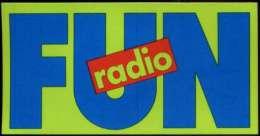 FUN RADIO Autocollant - Adesivi