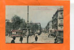 MONTPELLIER   1910   RUE MAGUELONNE ET SQUARE DE LA GARE AVEC TRAMWAY    CIRC  OUI  EDIT - Montpellier