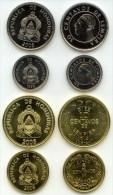 HONDURAS SET COMPLETE OF COINS 5 10 20 AND 50 CENTAVOS 2007 ALL UNC - Honduras