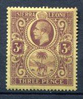 Sierra Leone 1912-1924  MNH**VF  3d  Part Elephant - Sierra Leone (...-1960)