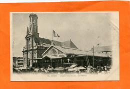 BREST   1900    LES HALLES  L EGLISE SAINT LOUIS     CIRC  NON   EDIT - Brest