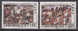 Peru   Scott No. 558-59   Used   Year  1971 - Peru