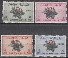 Pakistan-bahawalpur    Scott No.  025-28    Unused Hinged    Year  1949 - Pakistan