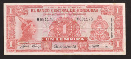 HONDURAS 1 LEMPIRA 1961 R PICK # 54Aa  Scarce - Honduras