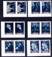 Ajman 1971 MNH 6v Imperf In Pairs, Nobel Prize, Medicine, Dr. Schweitzer, Dogs, Children, Music - Albert Schweitzer