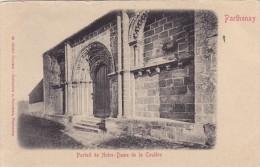 Cp , 79 , PARTHENAY , Portail De Notre-Dame De La Couldre - Parthenay