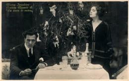 """ATTORI CINEMA  MARIA JACOBINI E AMLETO NOVELLI NEL FILM """" LA CASA DI VETRO """" 1920 - Schauspieler"""