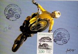 LOZERE, MENDE, Cachet Temporaire Du Championnat Du Monde D'enduro Du 5 Et 6 Septembre 1988 (moto) - FDC