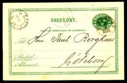 Entier Postal Suédois - Swedish Postcard - Circulé - Circulated - 1888. - Postal Stationery