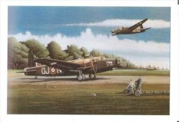 AIROPLANES   IN ART /   BAILEY  - VICKERS WELLINGTON  / Postcard Unused   ( M 100 ) - 1939-1945: 2. Weltkrieg