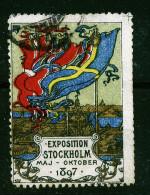 A2806) Vignette Exposition Stockholm 1897 - Erinnophilie