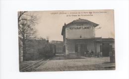1 RARE CPA LEGNY - AVENUE DE LA GARE DES PONTS TARRETS ET LE TRAM DE VILLEFRANCHE - Strassenbahnen