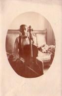 Musique : Violon - Carte Photo (1918) - Musique Et Musiciens