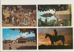 4 POSTCARDS : COWBOYS & INDIANS - USA / CANADA - Indiaans (Noord-Amerikaans)