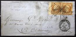 PC 3302 + Cachet Type 15 + Boite Rurale  -- ST VALLIER SUR RHONE  --  DROME  --  LAC  --  1860  --  Indice 4+ - Storia Postale
