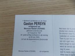 Doodsprentje Gaston  Persyn Zandvoorde 1927 - 30/5/2000 ( Rachel Legrand ) - Religion & Esotericism