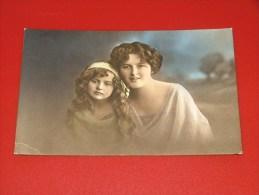 FANTAISIES - FEMMES  & ENFANTS  - Jolie Jeune Femme Et Fillette  -  1912 - Frauen
