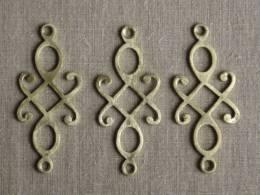 3 Belles Plaques D´ornement En Laiton Ajourées. Voir Photos. - Furniture