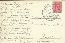 SAN LORENZO DE EL ESCORIAL MADRID TP CON SELLO ALFONSO XIII - Cartas