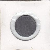 1 FRANC Zinc  Léopold III 1942 FL-FR - 1934-1945: Leopold III