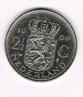 ¨ NEDERLAND  2 1/2 GULDEN  1969 - 1948-1980 : Juliana