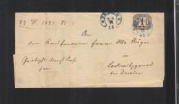 Faltbrief Hufeisen Stempel Berlin 1871 - Norddeutscher Postbezirk