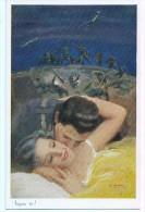 COPPIE GUERRA II SOGNO TE ! TEMI DI AMORE GUERRA AEREO  CARTOLINA Nr.428 - Couples