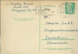 ALEMANIA DDR ENTERO POSTAL 1957N MAT BERLIN SOL - [6] República Democrática
