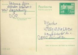 ALEMANIA DDR ENTERO POSTAL 1BERLIN RATHAUSSSTRASSE ARTE - [6] República Democrática