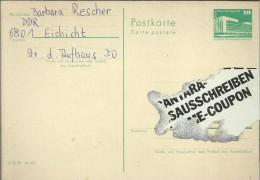 ALEMANIA DDR ENTERO POSTAL PALACIO REPUBLICA - [6] República Democrática
