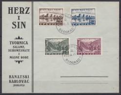 Germany Occupation Of Serbia - Serbien 1941 FDC With Mi#46-49 Belgrade Cancelation - Besetzungen 1938-45