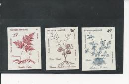 Polynésie - YT N° 315 à 317 - ND - Non Dentelé - Plantes Médicinales - Côte Dallay 2004 : 27  € - Imperforates, Proofs & Errors