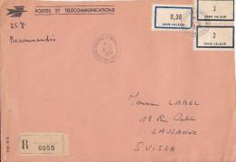 TIMBRES FICTIFS Sur  Enveloppe De Cours D´instruction  LYON-CRE - Phantom
