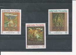 Polynésie - YT N° 303 à 305 - ND - Non Dentelé - Peinture Sur Tapa - Côte Dallay 2004 : 27 € - Imperforates, Proofs & Errors