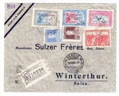 R-Flugpost Brief  Buenos-Aires 19AGO1932 Nach Winterthur Mit Ak-Stempel (2 Marken Mit Aufdruck) - Argentine