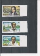 Polynésie - YT N° 318 Et 320 - ND - Non Dentelé - Missionnaires Protestants - Pasteur - Côte Dallay 2004 : 27 € - Imperforates, Proofs & Errors