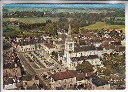 TOURNON ST MARTIN 36 - Vue Aérienne Sur Le Centre De Tournon - CPSM Dentelée Colorisée 1968 GF - Indre - France