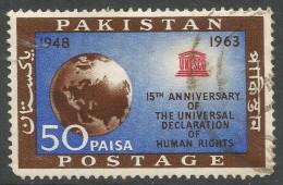 Pakistan. 1963 15th Anniv Of Declaration Of Human Rights. 50p Used. SG 194 - Pakistan
