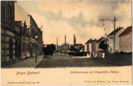 """Essen-Bergeborbeck 2-Farbige Ansichtskarte   """"Lindenstrasse Mit Eisenhütte Phönix""""   Jahr -   Ungebraucht - Essen"""