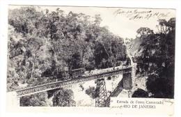 Brazilien -  Brücke Mit Zug Bei Rio De Janeiro - - Rio De Janeiro