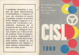 T56 - Tessera CISL  1960 Palermo - Organisations