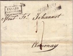 ISERE - Entrée Italie P. Le Pont De Beauvoisin - Lettre à Annonay - 1826 - Marcophilie (Lettres)